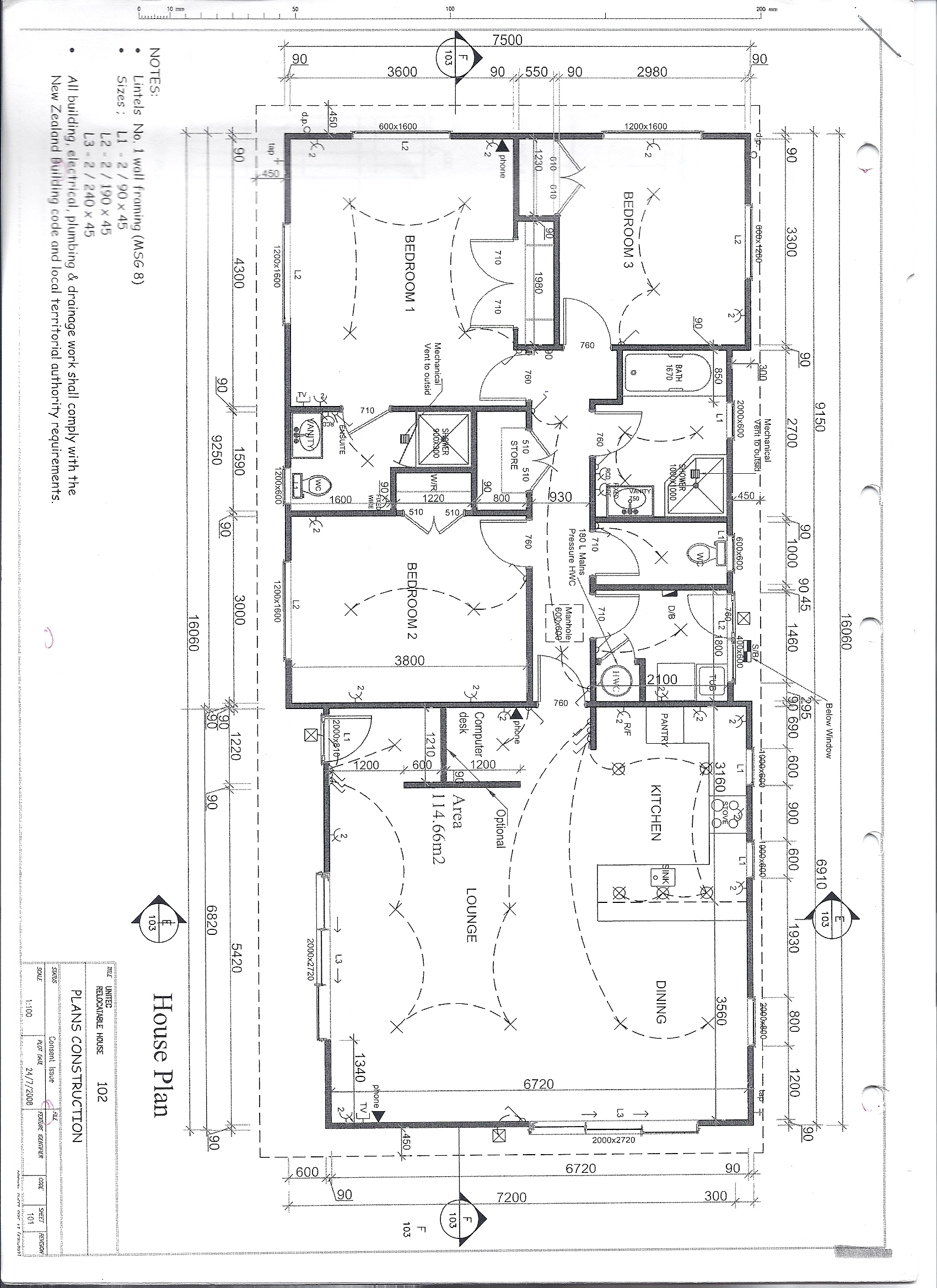 Specifications For House Plans House Plans